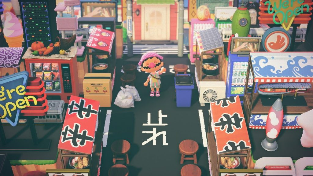 One of the many Animal Crossing island ideas is Tokyo inspired! I'd love a bowl of ramen too.