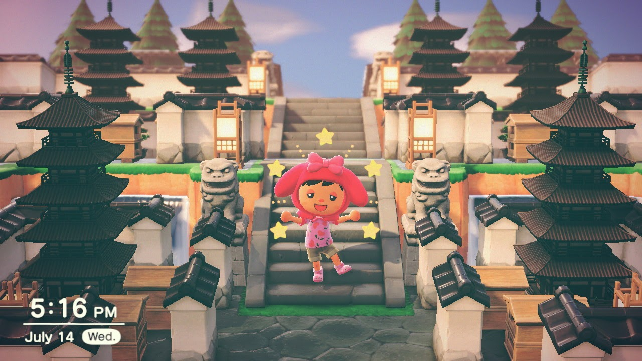 One of the many Animal Crossing island ideas is Medieval Japan.