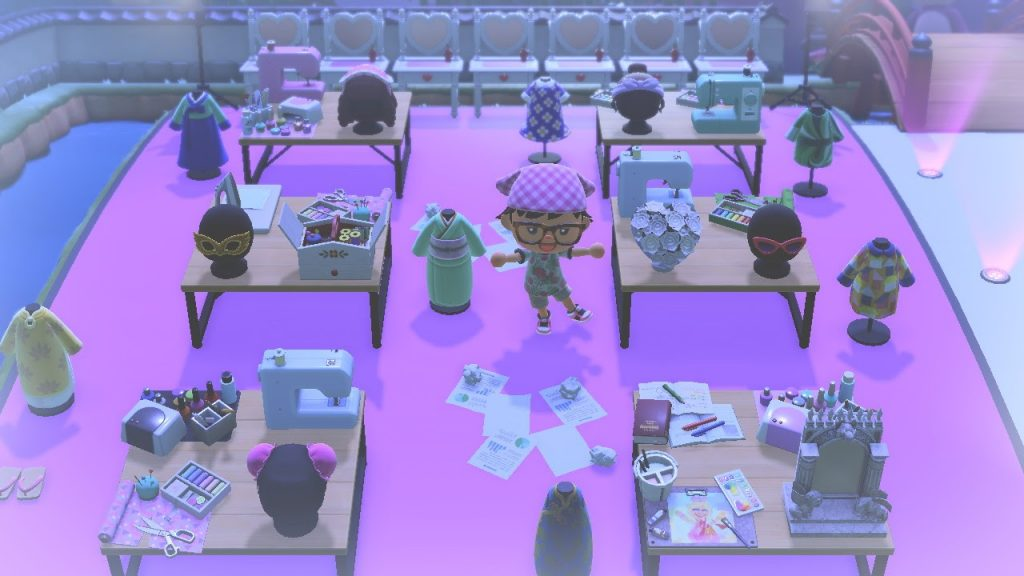 One of the many Animal Crossing island ideas is RuPaul's Drag Race Werk Room!  Design challenge for Animal Crossing fashion.