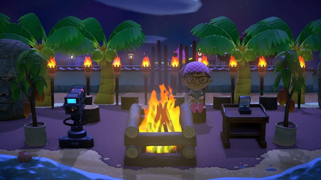 One of the many Animal Crossing island ideas is the set of Survivor!
