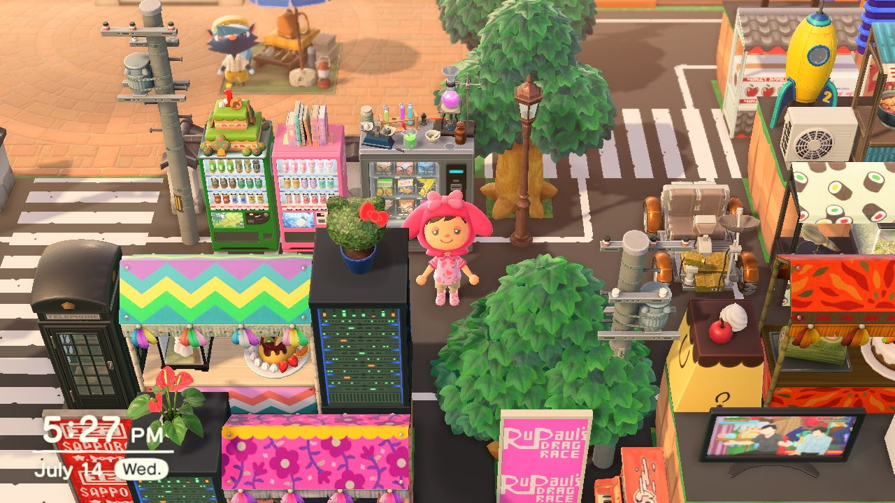 One of the many Animal Crossing island ideas is Tokyo inspired! Vibrant colours and epic streets.