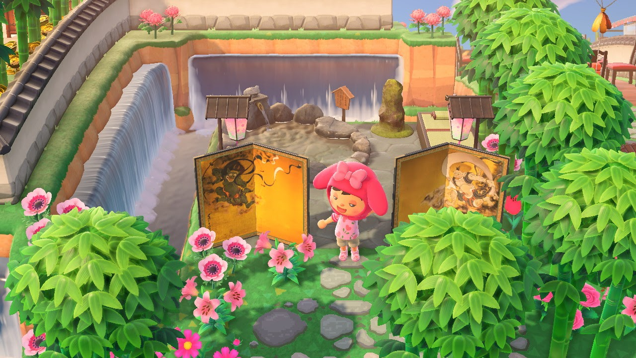 One of the many Animal Crossing island ideas are Japanese onsens.