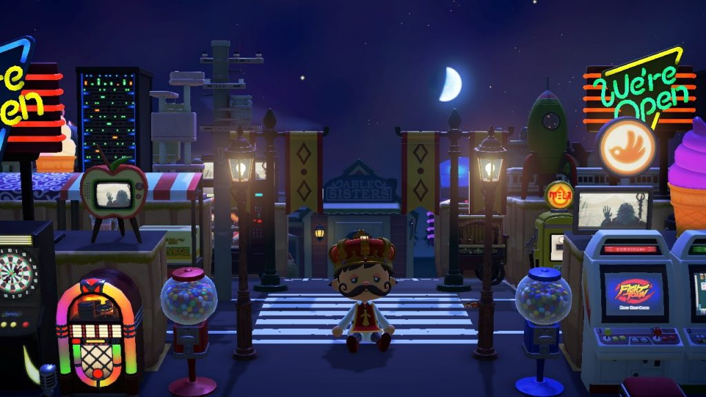 One of the many Animal Crossing island ideas is Tokyo inspired! Tokyo at night is still bright.