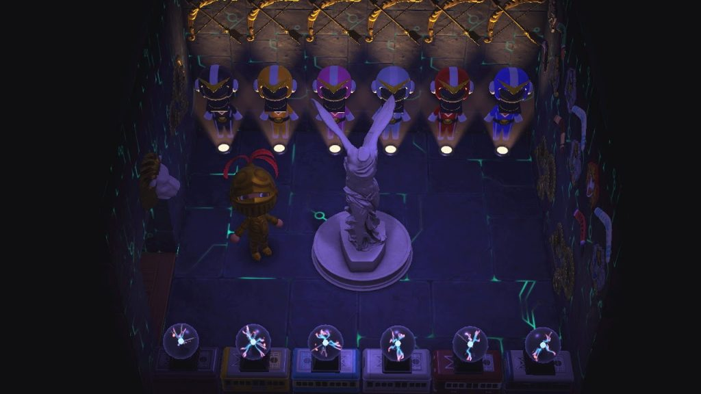 One of the many Animal Crossing island ideas is the headquarters of the Power Rangers.